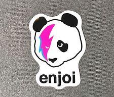 Enjoi Stardust Panda Skateboard Sticker 3.4in black si