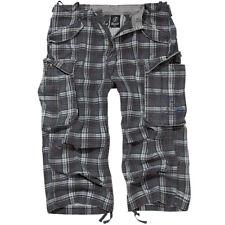 Brandit Industry 3/4 Cargo Shorts Vintage Short Outdoor Pants L Darkgrey-purple XL