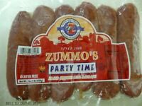 Zummo's Party Time Smoked Sausage 16 Oz (4 Pack)