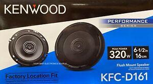 """NEW Kenwood KFC-D161 6.5"""" 2-Way Coaxial Car Audio Speakers (PAIR) 6-1/2"""""""