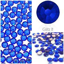 Genuine Swarovski Majestic Blue HOTFIX Flatback Crystals SS12 SS16 SS20 SS34