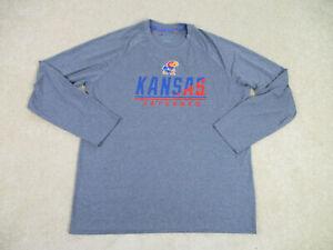 Champion Kansas Jayhawks Shirt Adult Extra Large Gray Blue UK Basketball Mens