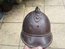 More details for ww1 french helmet brass firemans sapeurs  pompieres original no liner or badge
