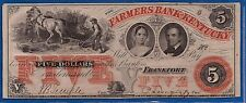 FARMER'S American BANK KENTUCKY signed FIVE DOLLAR NOTE Co UNC