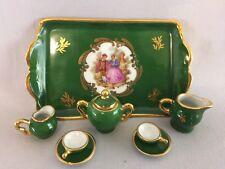 Beautiful Vintage Miniature Limoges 8-Piece Porcelain Set