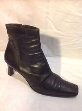 L.K.Bennett Black Ankle Leather Boots Size 39