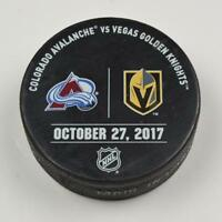 Vegas Golden Knights Warm Up Puck Used 10/27/17 VGK Vs. Colorado Avalanche Game