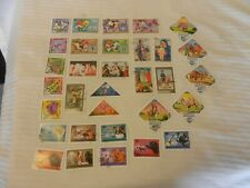 Lot of 32 Mongolia Stamps, 1972-1973, 1978-1979 Camels, Art Soccer, Dogs More