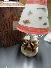 Enesco 1995 Retired RARE Moose Creek Crossing Fly Fishing Nature Calls Lamp New