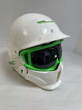 Ruroc White Green Full Face Shield  RG1-X Ski/Snowboard Helmet Size 57-61 M/L