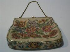 Vintage From 1950's Signed Steiner Tapestry Evening Shoulder Bag Israel