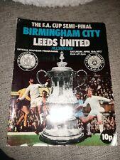 Birmingham V Leeds United 15/04/1972 FA Cup Semi Final Hillsborough