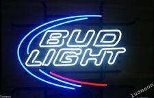 Classical BUD LIGHT BUDWEISER Beer Bar Pub Real Glass Neon Light Sign FREE SHIP