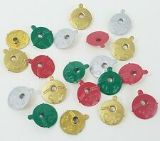 Christmas Eyelets Jingle Bells Scrapbooking Bell 4 Clrs 20 pcs Embossed Stamping