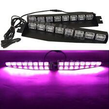 """48 LED 34"""" purple Emergency Strobe Visor Sucker Dash Split Deck Flash Light Bar"""