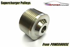 Jaguar XJ XJR X351 5.0 Supercharger Upper Pulley Upgrade Stainless Steel
