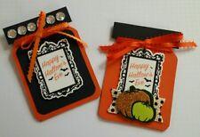 "Handmade ""Happy Halloween"" Paper Gift Card Holders Lot Of 2"