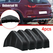 4Pcs Universal Car Rear Bumper Diffuser Scratch Protector Cover Molding Trim