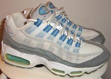 VINTAGE 2003 NIKE WMNS AIR MAX 95 - BLUE WAVE (WHT/ BLUE/ GREY) RUNNING SHOES 7
