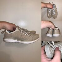 APL Techloom Phantom Running Shoes Mens Size 10 Beige Off White Lace Up Athletic