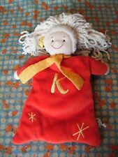 """JAKO-O Red Fairy comforter with letter K on it 12"""" approx VGC"""