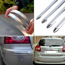 Silver Chrome Car Exterior Bumper Corner Protector Guard Sticker Anti-Scratch X4