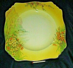 Antique Royal Winton Cake Plate NANCY Daffodils Grimwades England 22.5CmW