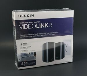 Brand New & Sealed - Belkin VideoLink 3 Powerline Internet Adapter