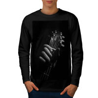 Wellcoda Art Music Guitar Mens Long Sleeve T-shirt, Instrument Graphic Design