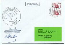 World Discoverer Purser PAQUEBOT Russia CCCP Polar Antarctic Cover SIGNED