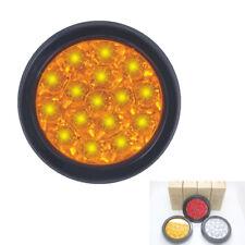 16 LED 12V 24V Yellow Tail Lights Back-up Reverse Lamps For Car Truck Trailer RV
