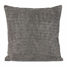 Corduroy Cushion Cover Case in Grey 45cm X 45cm 100 Polyester