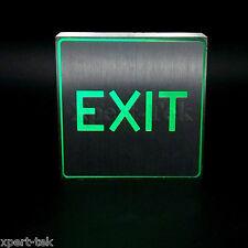 Silver Aluminum Green LED Light Restroom EXIT Sign Bar KTV Club Wall Mount