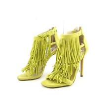 Steve Madden Fringly Women US 6 Yellow Sandals Blemish  10741