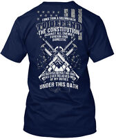 I Once Took A Solemn Oath To Defend The Constitution Hanes Tagless Tee T-Shirt