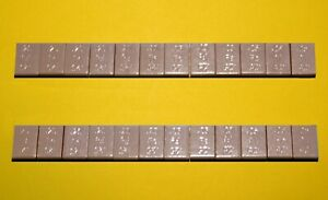 ADHESIVE BACK WEIGHTS FOR BALANCING CARS & LOCOS HO Scale G Scale (NEW)