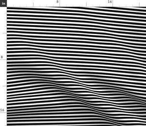 Black Black And White Monochrome Stripe Stripes Spoonflower Fabric by the Yard