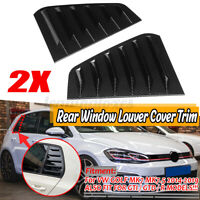 Carbon Look Side Window Louvers Sun Shade Cover For VW GOLF MK7 MK7.5 GTI GTD
