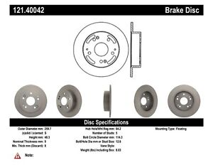 StopTech For 1997 - 2001 Acura Integ Disc Standard Brake Rotor - 121.40042
