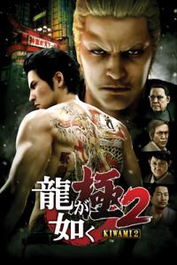 Yakuza Kiwami 2 Video Game Poster Art Print Wall Home Room Decor SEGA PC Xbox