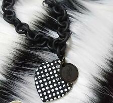 Braccialetto Ops a pois bianco e nero, catena effetto opaco, con scatola, usato