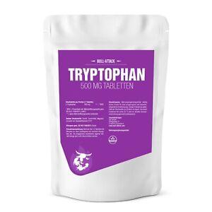 L-TRYPTOPHAN TABLETTEN 500mg - Hochdosiert & Vegan - Schlafstörungen Serotonin