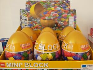 Building Blocks Toy in Golden Egg Tray Educational Toy For Kids Christmas Gift