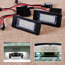 White 24 LED Error Free License Plate Light Lamp for Audi A4 A5 Q5 TT Quattro