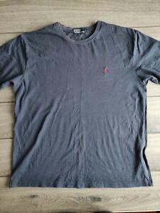 Men's Ralph Lauren Polo Navy Blue 100% Cotton T-shirt Size L