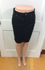 ZARA Black Jean Skirt Slim Pencil Women's 6