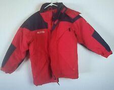 Columbia Sportswear Youth 14/16 Winter Jacket Hoodie Red Omni Tech Titanium