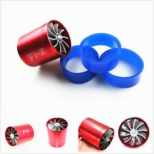 Red Turbonator Turbo Supercharger Air Intake Dual Fan Propeller Gas Fuel Saver