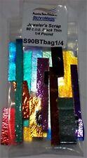 1/4 LB Dichroic Scrap Glass Thin Black COE 90 Austin 74541