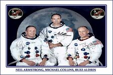 APOLLO 11 - LARGE AUTOGRAPH SIGNED POSTER PRINT PHOTO  - GREAT SPACE MEMORABILIA